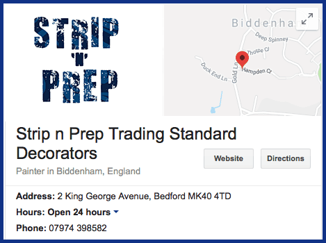 Strip 'n' Prep Google Location in Bedford