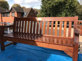 Varnished Bench After Bedford